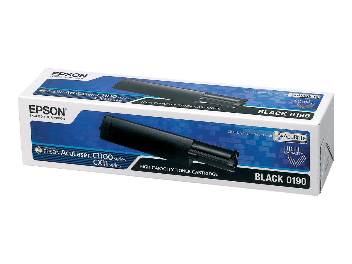 Epson 0190 - haute capacité - noir - originale - cartouche de toner