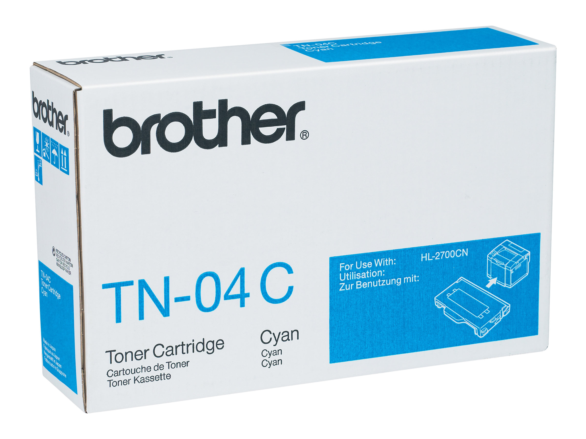Brother TN04C - cyan - originale - cartouche de toner