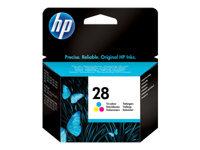 HP 28 8 ml farve (cyan, magenta, gul) original blækpatron