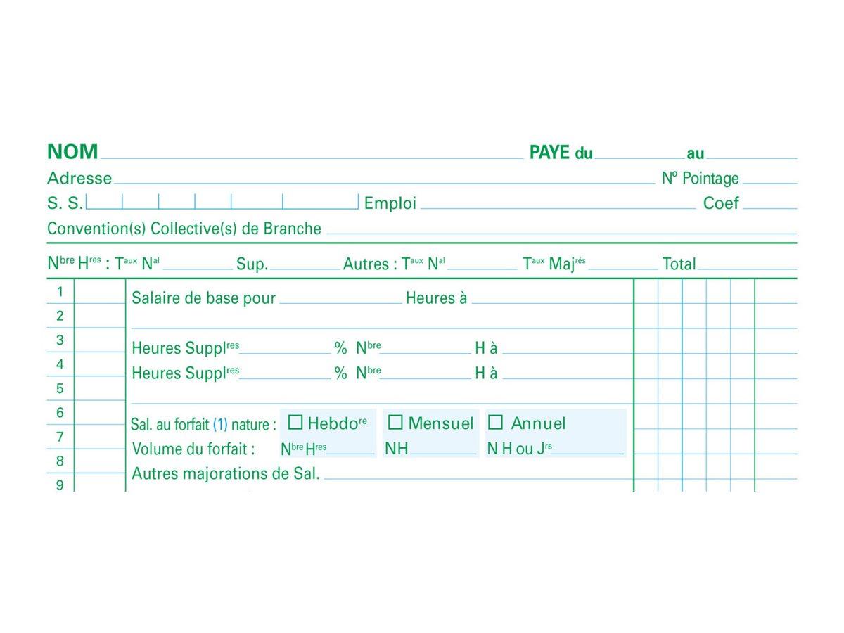 Exacompta - Manifold - Bulletin de paie - 50 feuilles - en triple