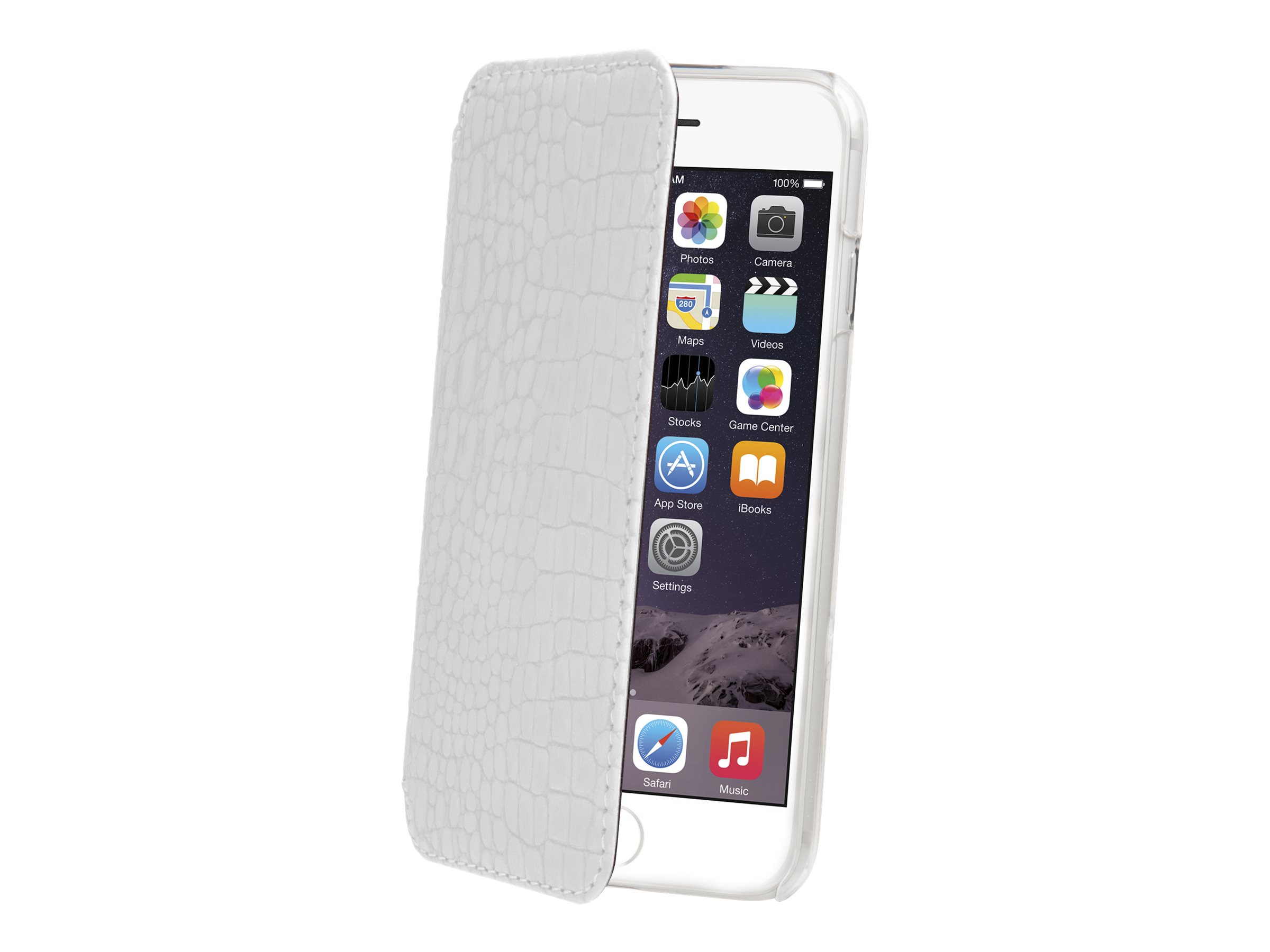 Muvit Made in Paris Crystal Folio - Protection à rabat pour iPhone 6 Plus - blanc
