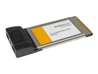 StarTech.com Adaptateur de carte PC CardBus USB 2.0 2 ports pour ordinateur portable