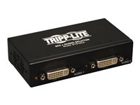 Tripp Lite 2-Port DVI Single Link Video / Audio Splitter / Booster DVIF/2xF TAA - Video/audio splitter - 2 x DVI / audio - desktop