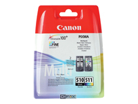 Canon PG-510 / CL-511 Multi pack 2 pakker