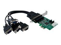 STARTECH - CARDS/HUBS/ADAPTER StarTech.com 4 Port Native PCI Express RS232 Serial Adapter Card with 16550 UARTPEX4S952