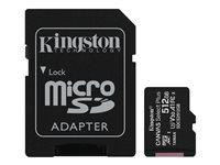 Kingston Canvas Select Plus - Tarjeta de memoria flash (adaptador microSDXC a SD Incluido) - 512 GB