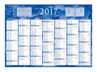 CBG Bleu & rouge 222 - bank calendar