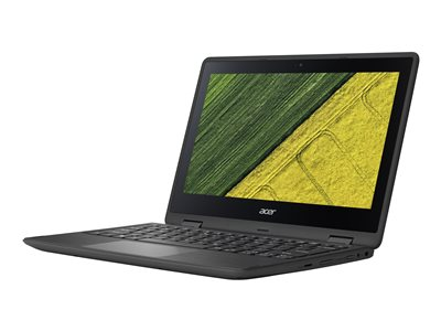 "Acer Spin 1 SP111-31-P5C9 - Flip design - Pentium N4200 / 1.1 GHz - Win 10 Home 64-bit - 4 GB RAM - 64 GB eMMC - 11.6"" IPS touchscreen 1920 x 1080 (Full HD) - HD Graphics 505 - Wi-Fi, Bluetooth - obsidian black - kbd: US International"