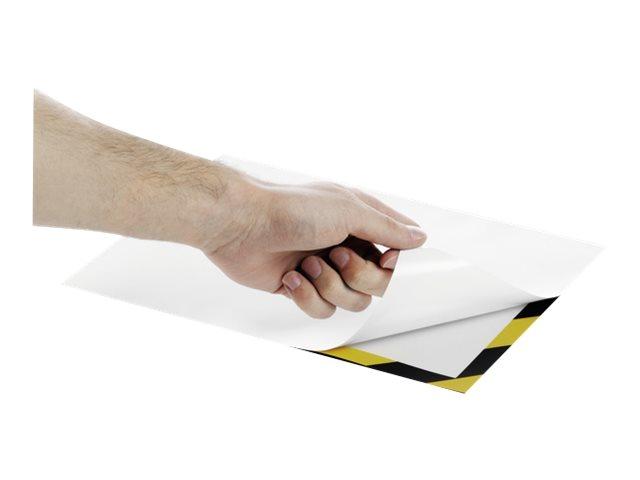 DURABLE DURAFRAME - Porte-document - pour A4 - magnétique - jaune/noir ( pack de 2 )