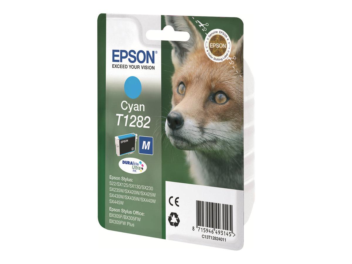 Epson T1282 - pack de 1 - 1 - cyan - originale - cartouche d'encre