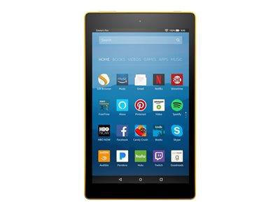 "Amazon Kindle Fire HD 8 - Tablet - 32 GB - 8"" IPS (1280 x 800) - microSD slot - canary yellow"