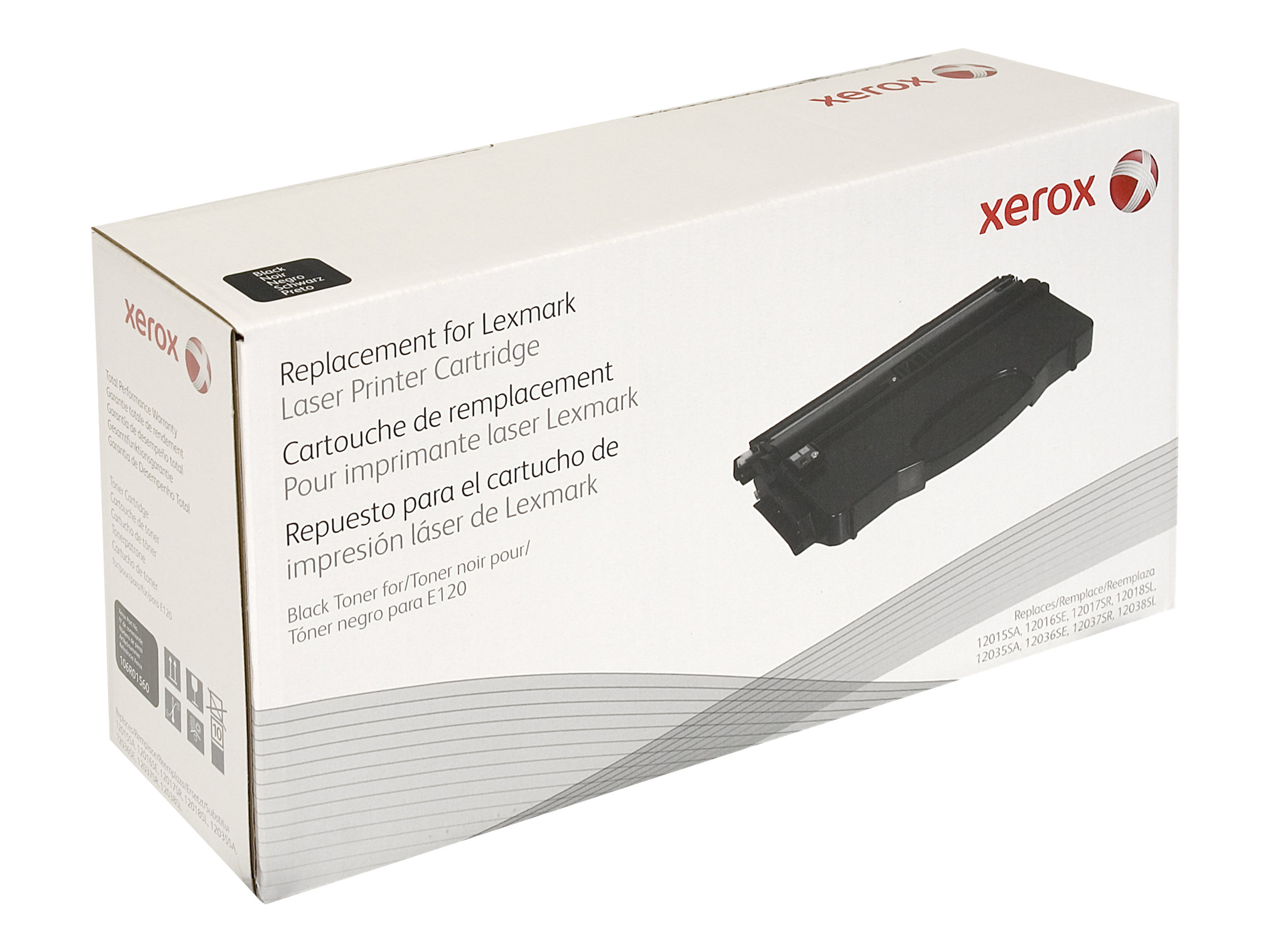 Xerox - noir - cartouche de toner (équivalent à : Lexmark 12016SE, Lexmark 12036SE)