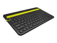 Teclado LOG K480 Negro BTx3 Pila Con Base Win/Mac/iOS/Androi