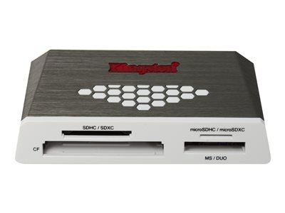 Kingston High-Speed Media Reader - Čtečka karet (CF I, CF II, MS, MS PRO, SD, MS Duo, MS PRO Duo, CF, microSD, SDHC, microSDHC, MS PRO-HG Duo, SDHC UHS-I, SDXC UHS-I, microSDHC UHS-I, microSDXC UHS-I)