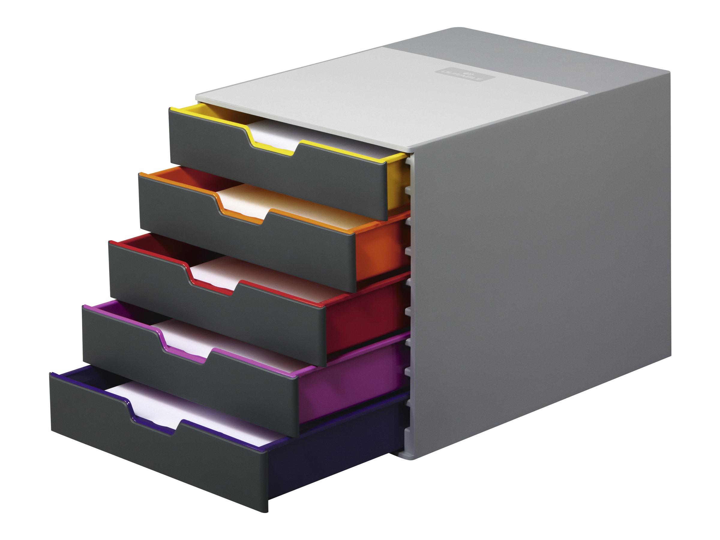 DURABLE VARICOLOR 5 - bloc de classement à tiroirs