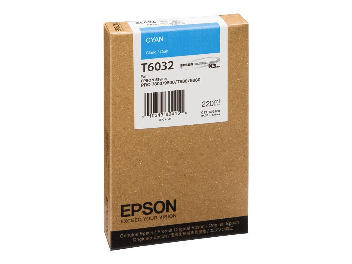 Epson T6032 - cyan - originale - cartouche d'encre