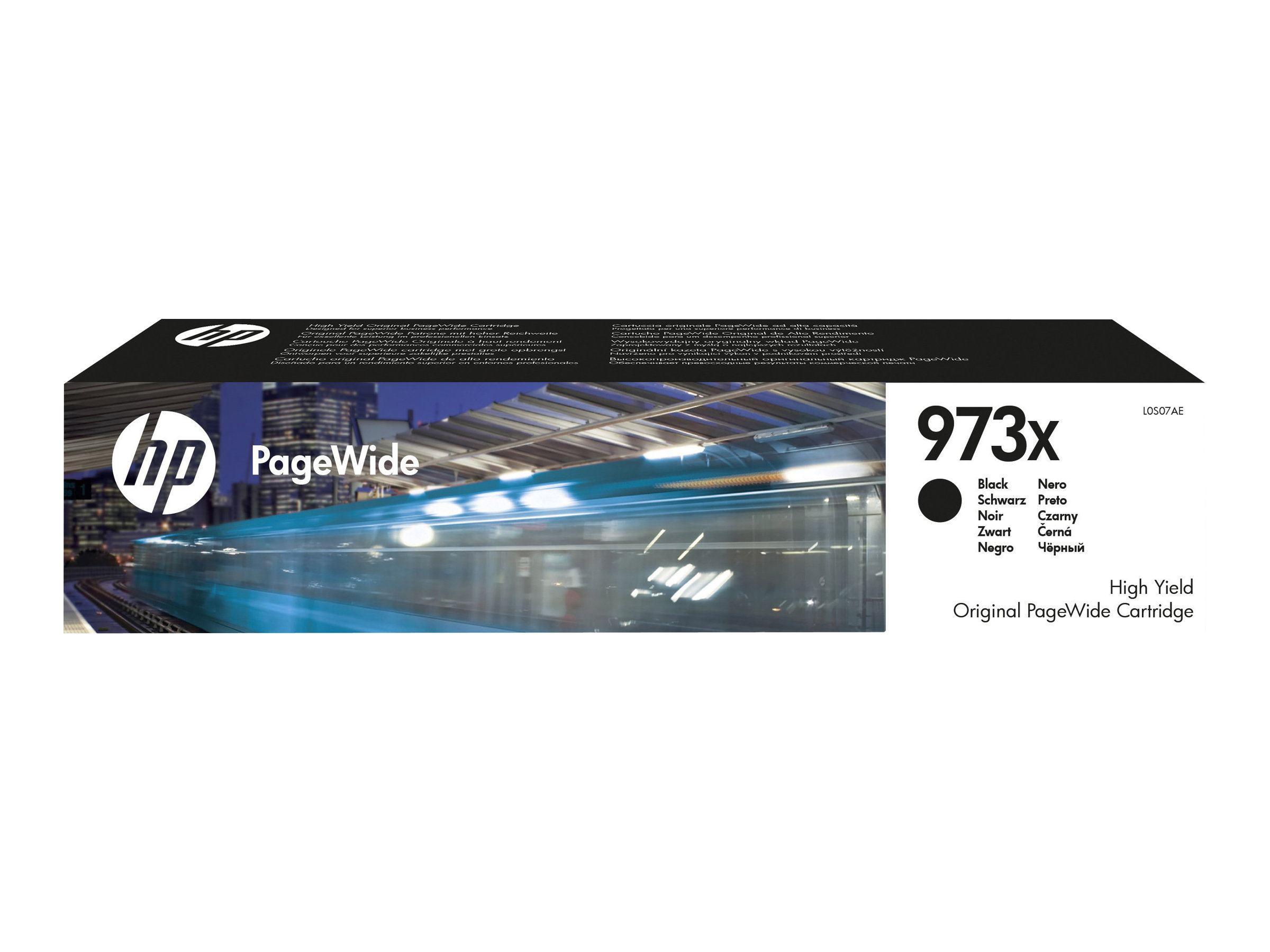 HP 973X - à rendement élevé - noir - originale - PageWide - cartouche d'encre