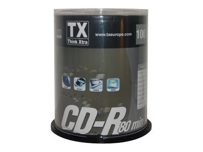 TX - CD-R x 100 - 700 Mo - support de stockage