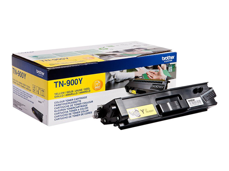Brother TN900y - jaune - originale - cartouche de toner
