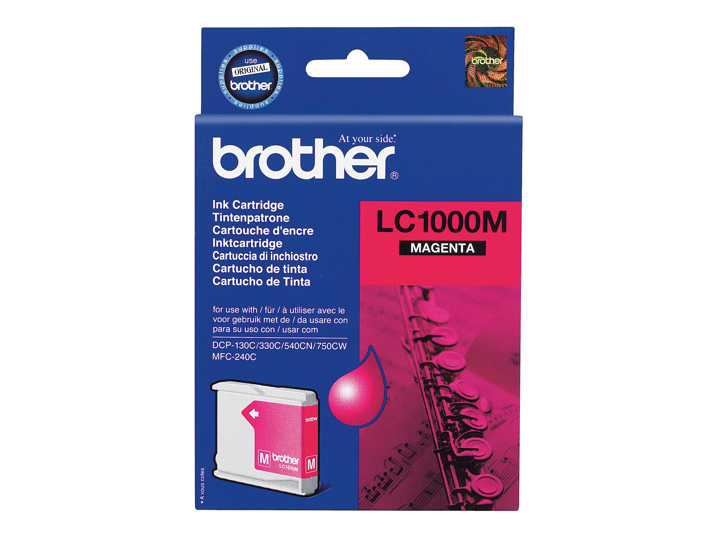 Brother LC1000M - magenta - originale - cartouche d'encre