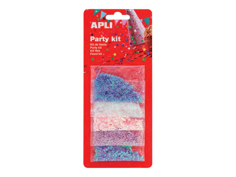 Apli Party - confettis - 10 gr - 1.5 cm - cœurs