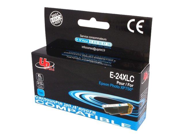 UPrint E T24XLC - taille XL - cyan - cartouche d'encre (équivalent à : Epson T2432)
