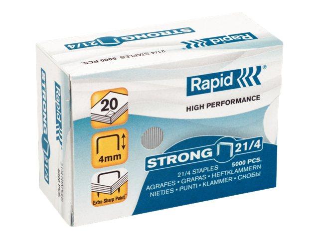 Rapid Strong - 5000 Agrafes - 21/4 - 4 mm - acier galvanisé
