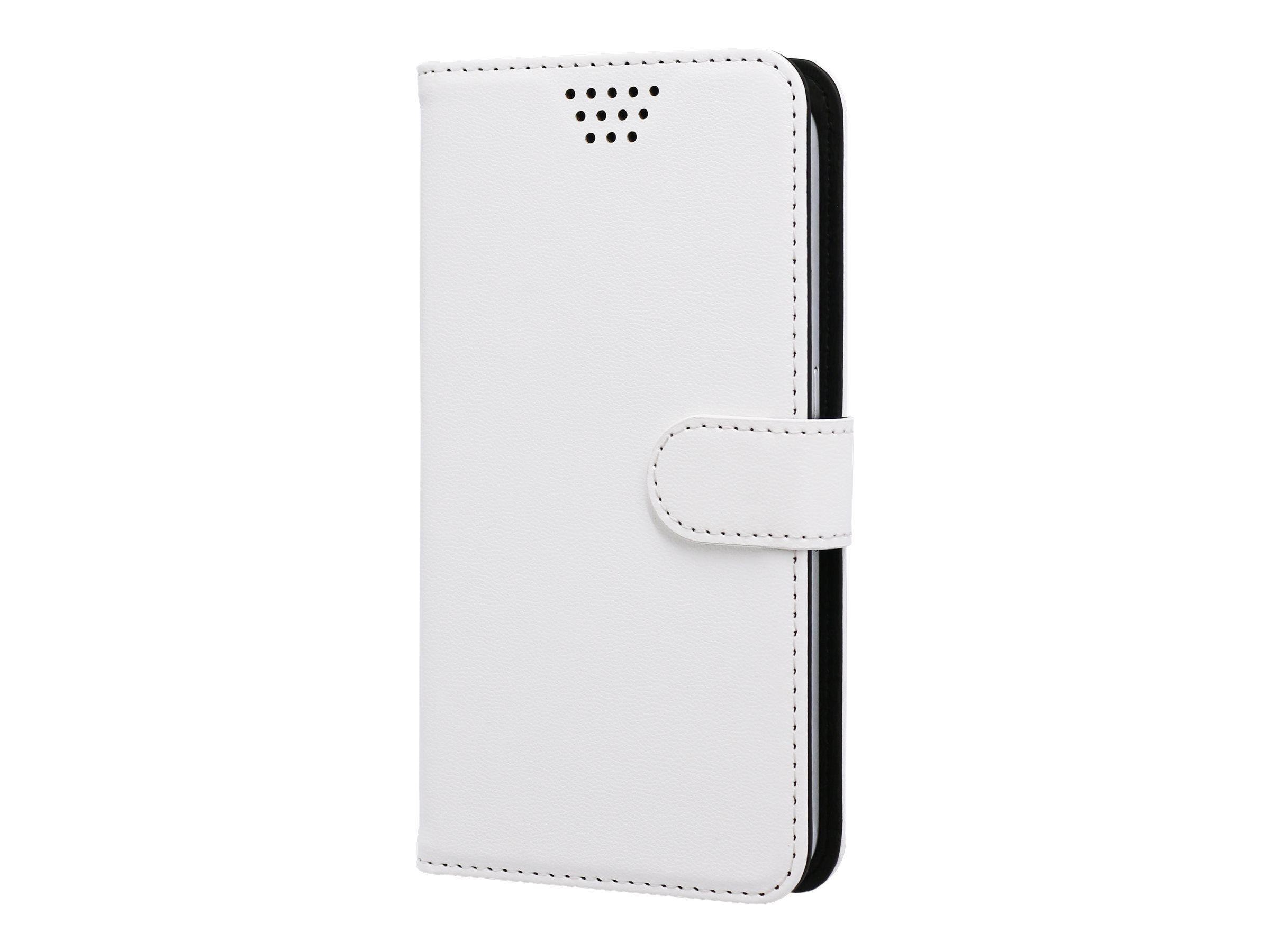 Muvit Folio - Protection à rabat - blanc - universel - jusqu'à 5 pouces
