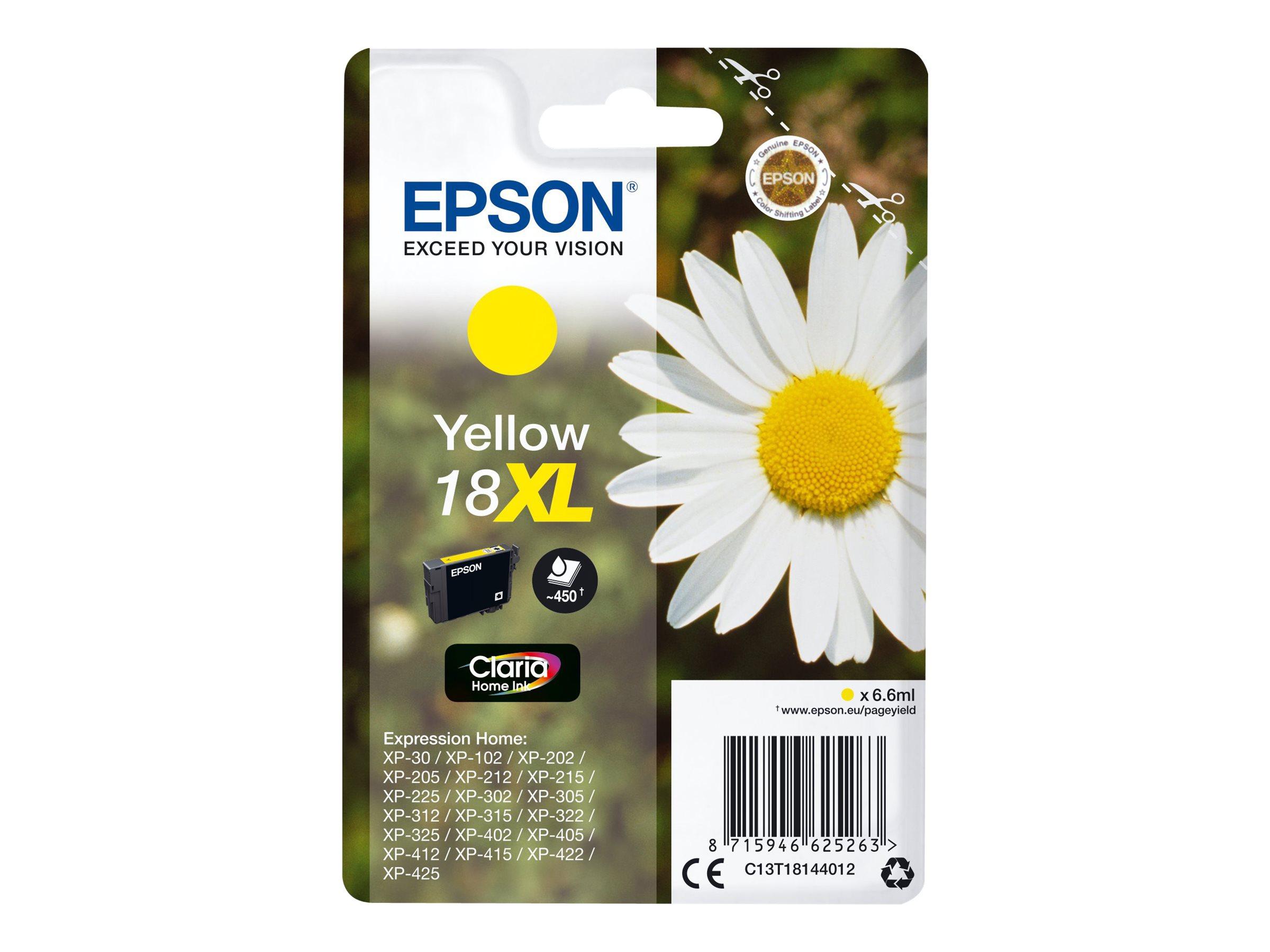 Epson T1814 XL - pâquerette - jaune - originale - cartouche d'encre