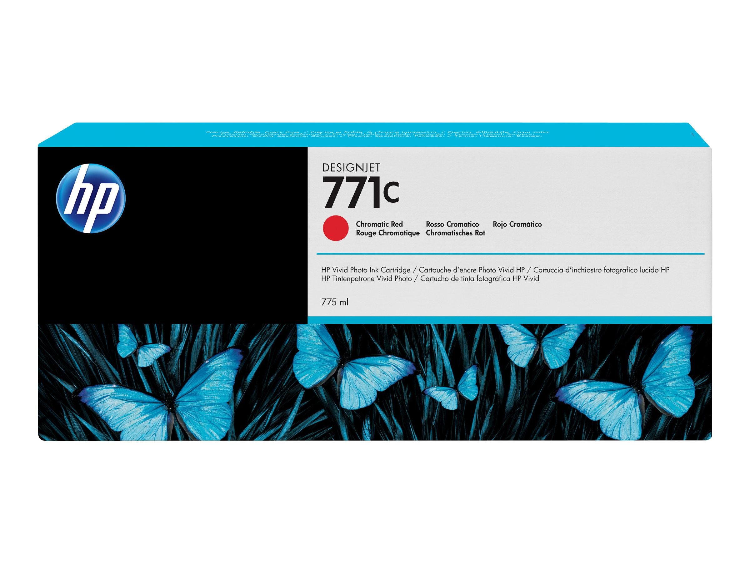 HP 771C - rouge chromatique - originale - cartouche d'encre