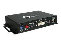 SIIG HDMI to VGA/Component + Audio - Video converter - DVI, HDMI - component video, VGA - black