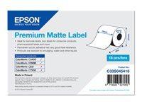Epson Premium - papier continu pour étiquettes mattes - 1 rouleau(x)