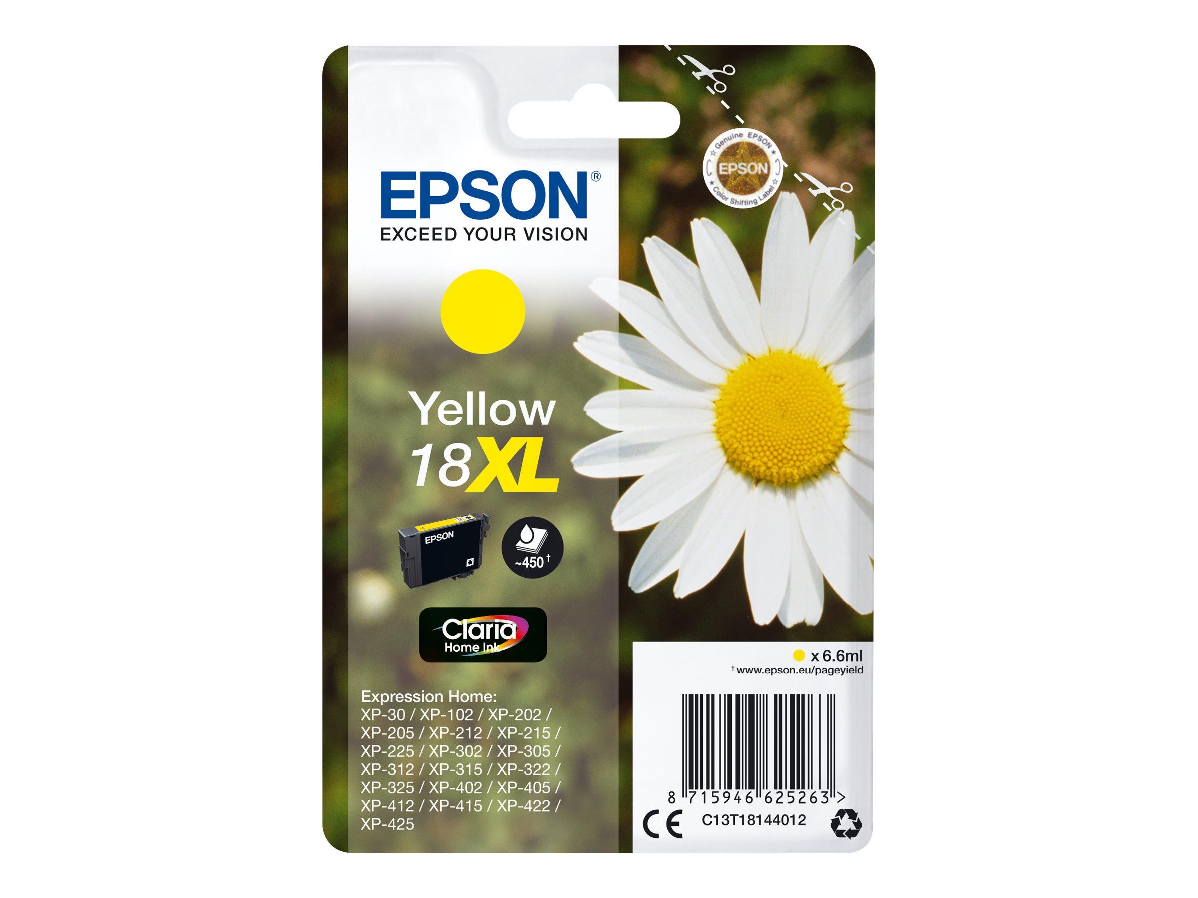 Epson T1814XL Paquerette - à rendement élevé - jaune - originale - cartouche d'encre