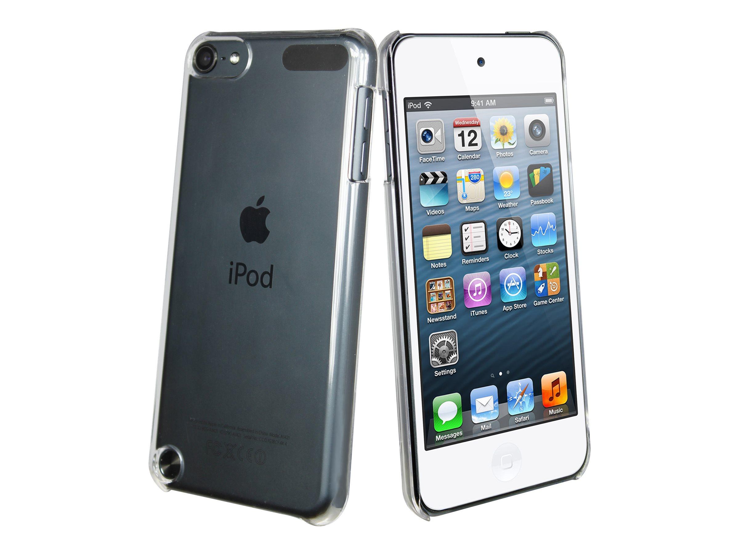 Muvit Clear Back - Coque de protection lecteur pour iPod touch (5G) - clair - avec film