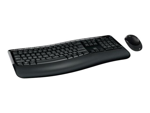 Image of Microsoft Wireless Comfort Desktop 5050 - keyboard and mouse set - English - United Kingdom