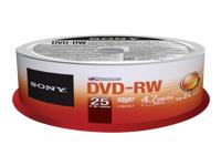 Sony CD-R/W et DVD-R 25DMW47SP