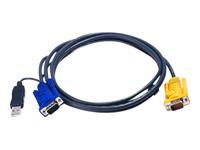 ATEN 2L-5202UP - câble clavier / vidéo / souris (KVM) - 1.8 m