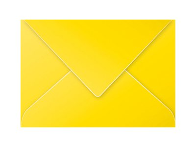 Pollen - Enveloppe - 162 x 229 mm - jaune intense - pack de 20