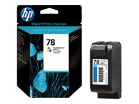 HP 78 - couleur (cyan, magenta, jaune) - originale - cartouche d'encre