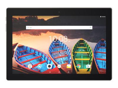 "Lenovo TAB 3 X70F ZA0X - Tablet - Android 6.0 (Marshmallow) - 16 GB eMMC - 10.1"" IPS (1920 x 1200) - microSD slot - slate black"