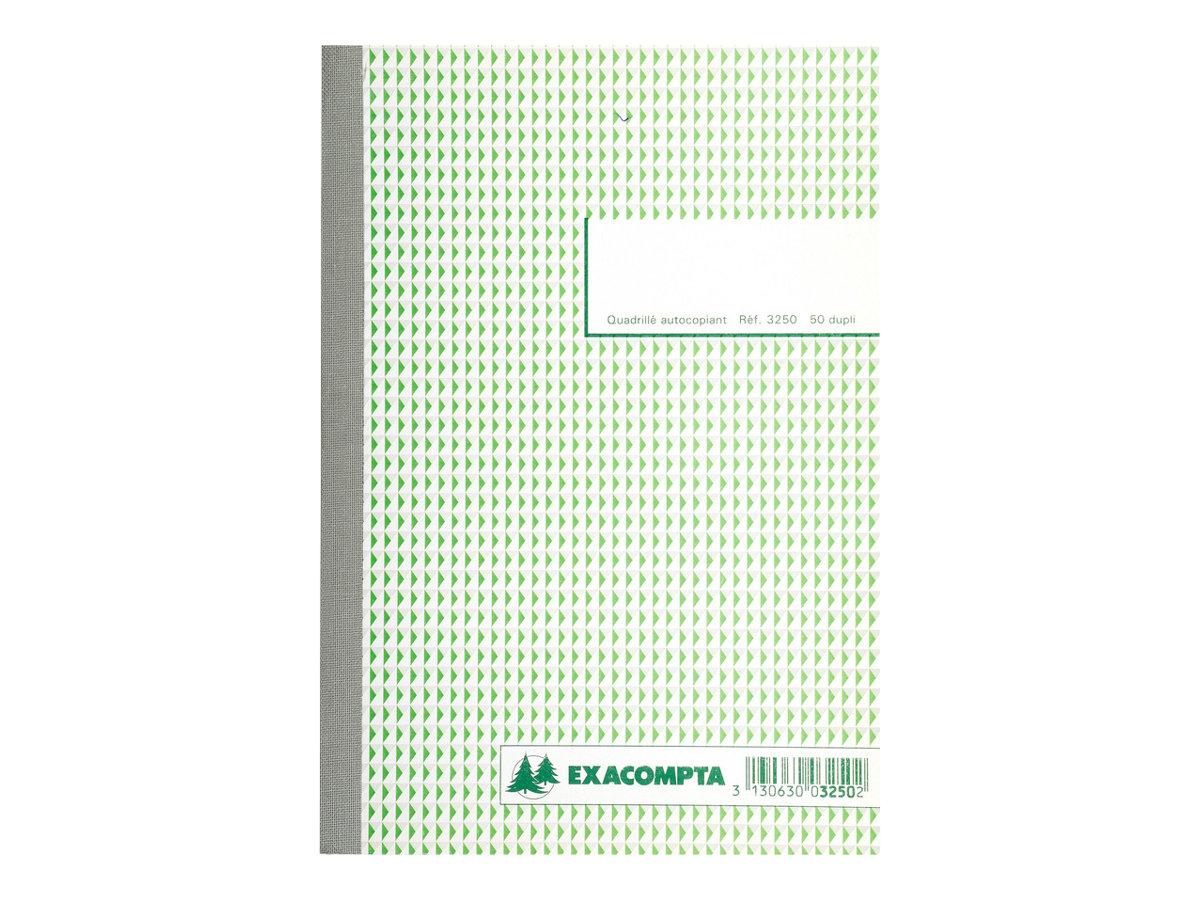 Exacompta - Manifold duplicata - 50 pages - 210 x 148 mm - en double - à l'unité ou en lot
