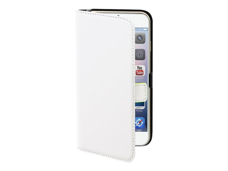 Muvit Slim Folio - Protection à rabat pour iPhone 6 Plus - blanc lisse