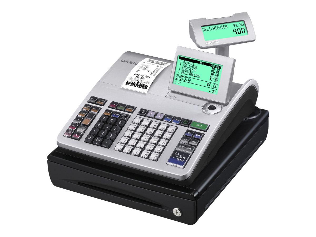 Casio SE- S400 - Caisse enregistreuse - 3000 PLU - petit ou grand tiroir caisse
