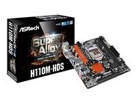 ASRock H110M-HDS - Motherboard - micro ATX