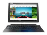"Lenovo Miix 510-12IKB 80XE - Tablet - with detachable keyboard - Core i5 7200U / 2.5 GHz - Win 10 Home 64-bit - 4 GB RAM - 128 GB SSD NVMe - 12.2"" IPS touchscreen 1920 x 1200 - HD Graphics 620 - Wi-Fi - platinum silver - kbd: English"