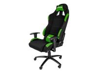 AKRACING Gaming Stol armstøtter T-formet drejeled tekstil sort, grøn