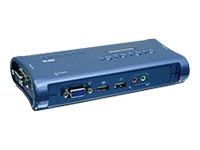TRENDnet TK 409K KVM / audio / USB switch 4 x KVM / audio / USB