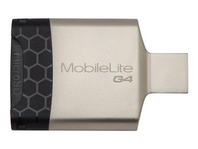 Kingston MobileLite G4 - Čtečka karet (SD, microSD, SDHC, microSDHC, SXC, microSDXC, SDHC UHS-I, SDXC UHS-I, microSDHC UHS-I, microSDXC UHS-I, SDHC UHS-II, SDHC UHS-II) - USB 3.0
