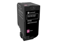 Lexmark - High Yield - magenta - original - toner cartridge LCCP, LRP - for Lexmark CS725de, CS725dte