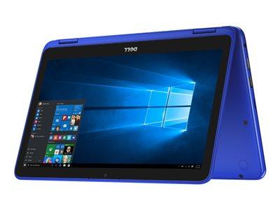 "Dell Inspiron 11 3168 - Flip design - Celeron N3060 / 1.6 GHz - 2 GB RAM - 32 GB eMMC - 11.6"" touchscreen 1366 x 768 (HD) - HD Graphics 400 - bali blue"